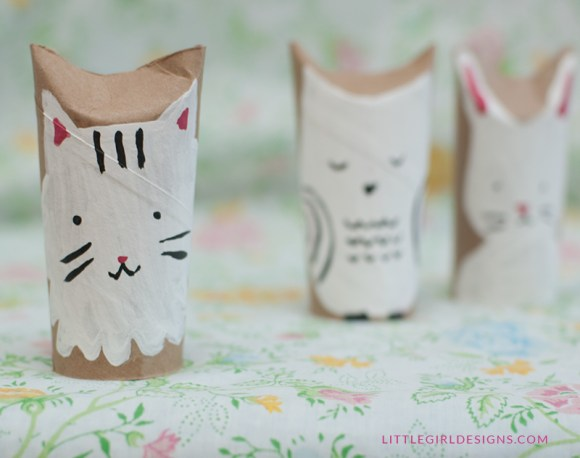 Make your own woodland creatures out of toilet paper rolls! A great craft for kids though adults will have fun making them too (I did :)) @littlegirldesigns.com