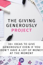 The Giving Generously Project