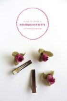 How to Make a Rosebud Barrette