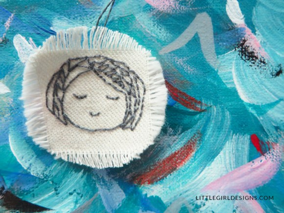 How to Make Embroidered Ornaments