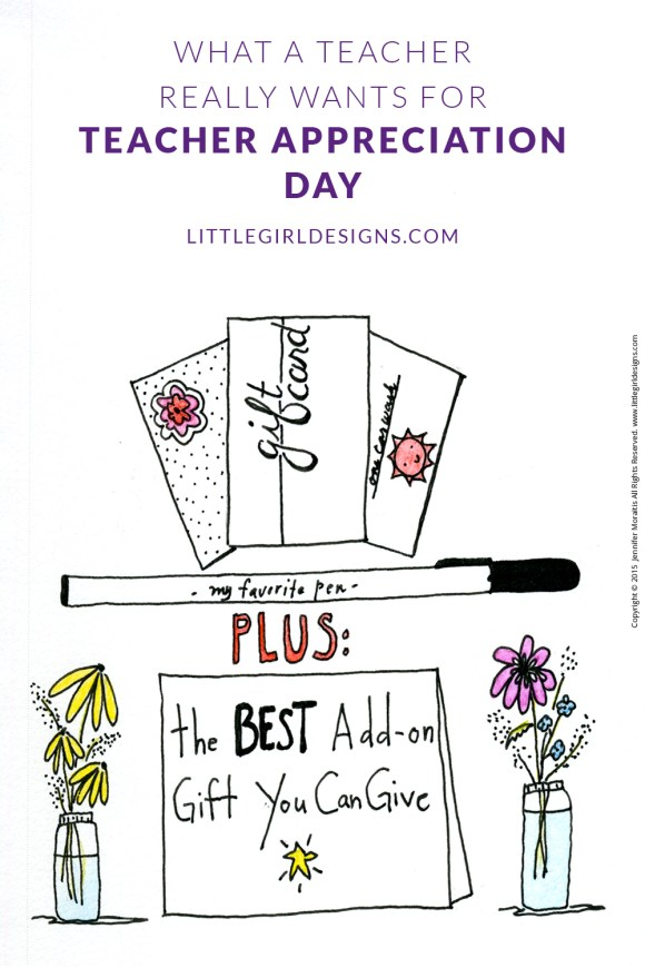 What a Teacher Really Wants for Teacher Appreciation Day - I interviewed my parents who are veteran teachers to find out what a teacher really wants. You might be surprised! @littlegirldesigns.com