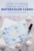 Watercolor Cards for Summer