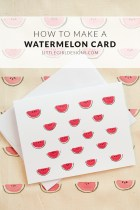 Make a Watermelon Note Card