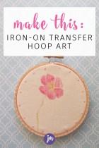 Iron-on Transfer Hoop Art