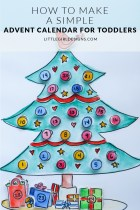 How to Make a Simple Advent Calendar - Make this sweet (and toddler-friendly) Advent calendar in an afternoon and start a fun tradition with your little one. via littlegirldesigns.com