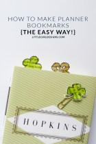 How to Make Planner Bookmarks (The Easy Way) - If you're a planner girl, you know what I'm talking about when I mention planner bookmarks. They're everywhere these days. But did you know that you could easily whip up a batch that are uniquely you with supplies you already have on hand? Let me show you how! :)