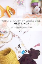 What Creativity Looks Like - Meet Linda, the owner of Happy Print Club this week on Little Girl Designs! I'm talking to creatives all summer long about what they think creativity looks like. You're going to love Linda and her snail mail goodness!