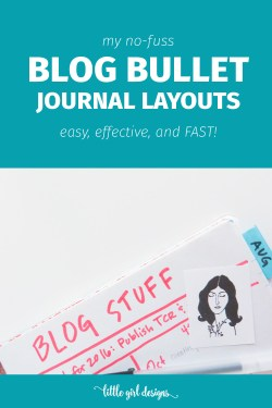 Here's my simple bullet journal method that I use for blogging. It's simple and is completely customizable for YOU. LOVE this.