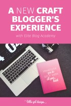 A Craft Blogger's Experience With Elite Blog Academy
