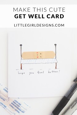Oh my goodness, these cards are so cute. AND they're so easy to make. You probably have all the supplies to make these get well cards already! (Kid-friendly project too! :))