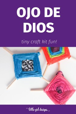 Remember making Ojo de Dios crafts when you went to camp? This kit brings back the good old days in miniature form! The sticks are literally toothpick size and soooo cute!