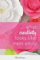 What a sweet interview with one of my favorite creative bloggers! Meet Emily from Two Purple Couches on littlegirldesigns.com today!