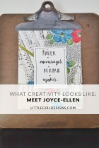 What Creativity Looks Like: Meet Joyce-Ellen