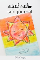 Make this cute mixed media sun journal using DecoArt paint, decoupage glue, painted papers, and a composition book. :)