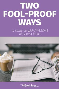 Why didn't I think of this? I tried these and came up with over 50 blog post ideas within 20 minutes. Whoohoo!