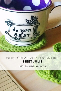 Meet Julie from Tokyo Blossom Boutique this week in the What Creativity Looks Like series! Learn about the inspiration behind her creations and what keeps her going as a mompreneur. via littlegirldesigns.com