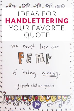 Have you ever tried faux handlettering? It's way easier than you think! Here are a bunch of ideas and styles to try when you want to fancy up a quote in your bullet journal or art journal!