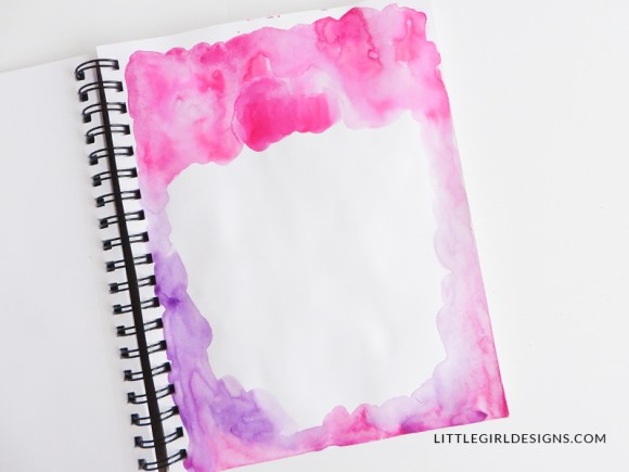 Gather your art supplies for your personal artist retreat. You can start with a mixed media notebook and watercolors.