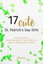So fun! I love the variety of cute and simple St. Patrick's Day DIYs in this list! Cards, Kawaii-inspired pencil jars, a crocheted coffee cozy, and more!