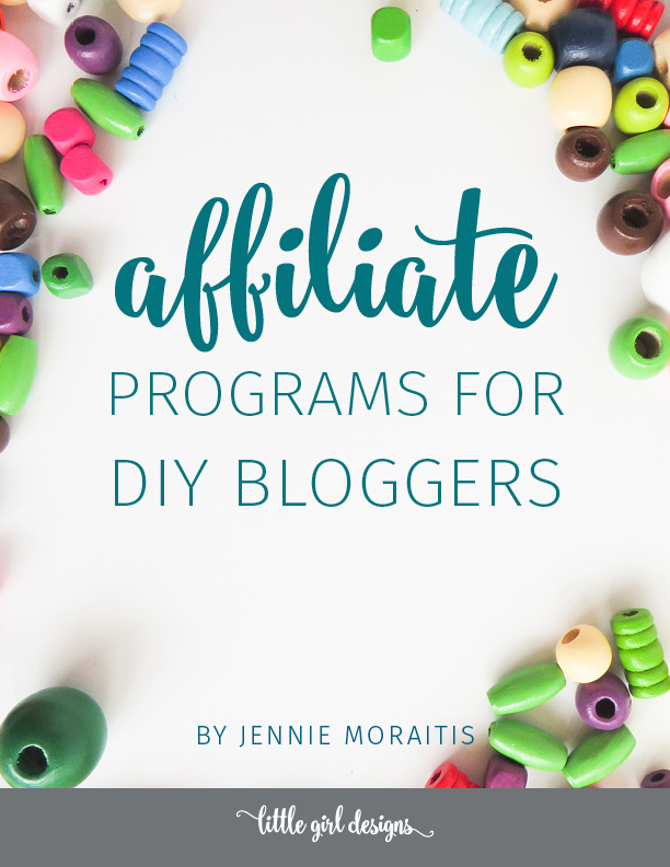 Download this list of the best affiliate programs for DIY bloggers. Love this because you don't have to have a huge blog to make money with affiliate marketing.