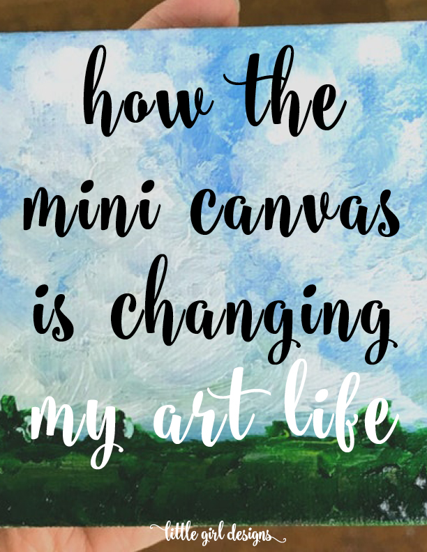 I LOVE this idea! I'm always on the lookout for fun and simple ways to add creativity to my day. This mini canvas idea is so up my alley. Going to go to Michael's to get some 2x2 canvases today! :)