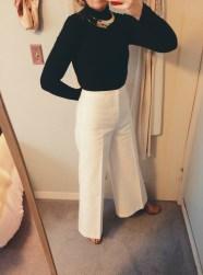 topshop turtleneck bodysuit, h&m necklace, isabel marant pants, thrifted shoes.