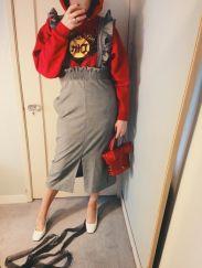 thrifted hoodie, h&m skirt, vintage bust bag, celine shoes.