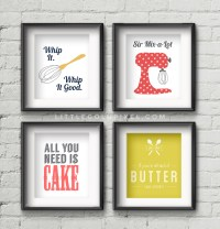 Free Printables Kitchen Wall Art  Little Gold Pixel