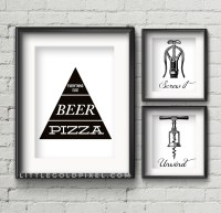 20 Kitchen Free Printables  Wall Art Roundup  Little
