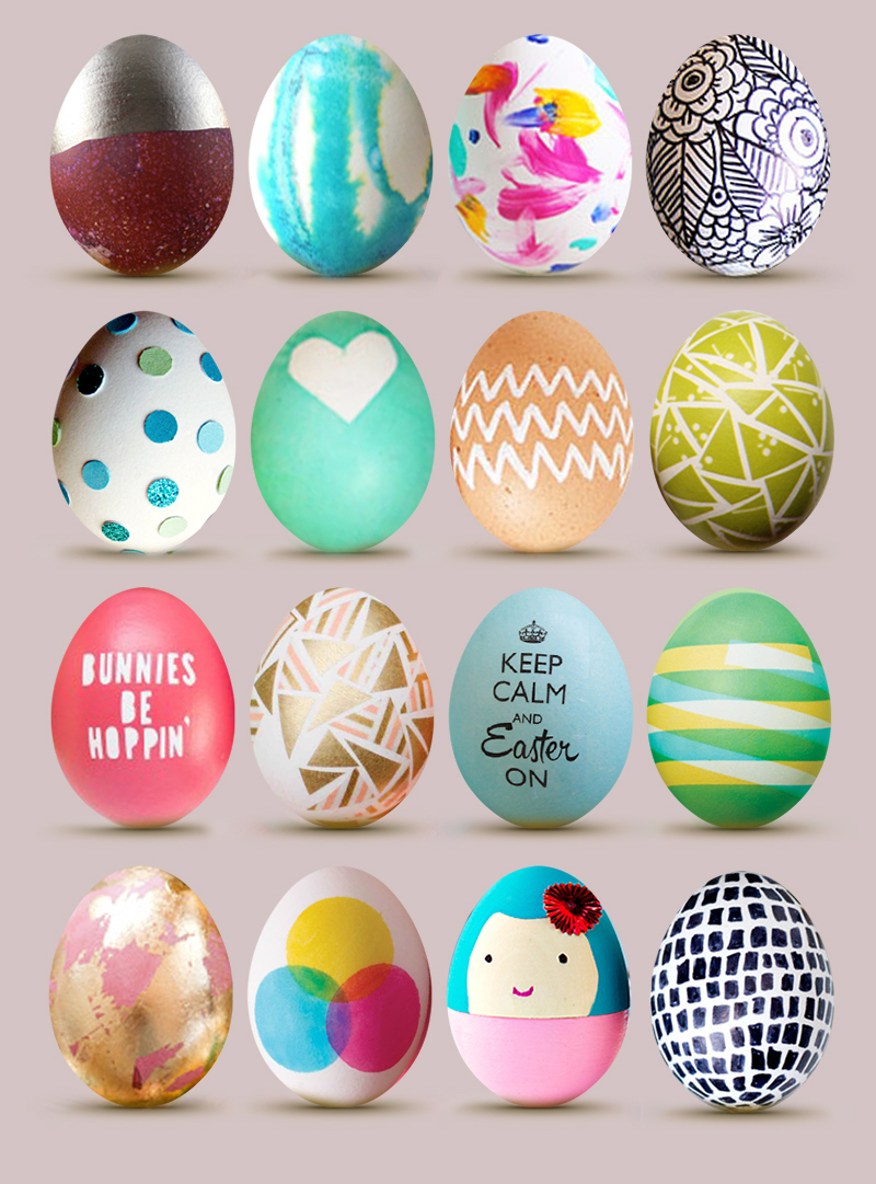 Easter Egg Roundup  16 Cute Designs  Little Gold Pixel