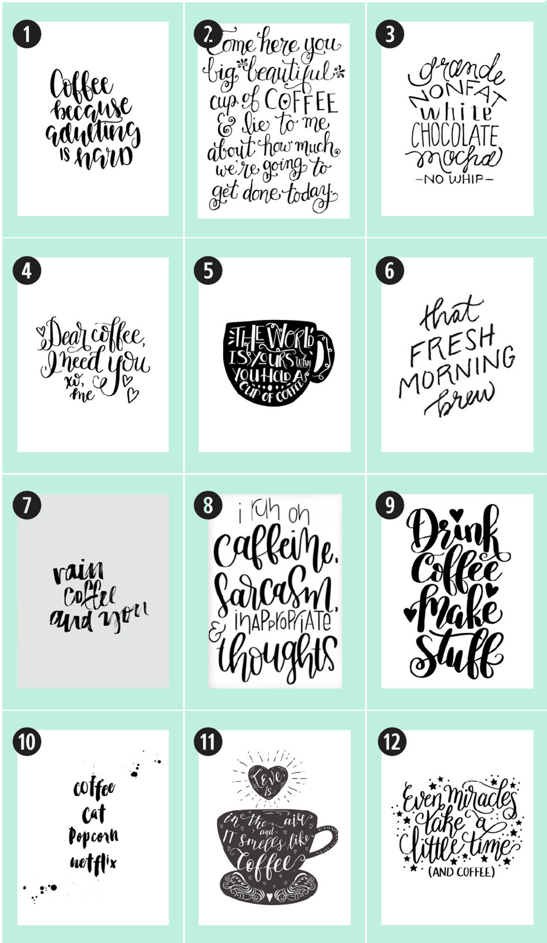 Coffee Free Printables 180 Ultimate Guide Little Gold