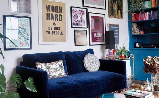Eclectic Gallery Walls Upcycled Glam Home Tour Little