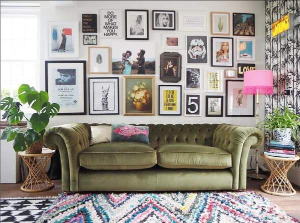Eclectic Walls Upcycled Glam Home Tour Little