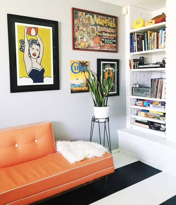 Colorful Mid-century Walls Home Tour Little