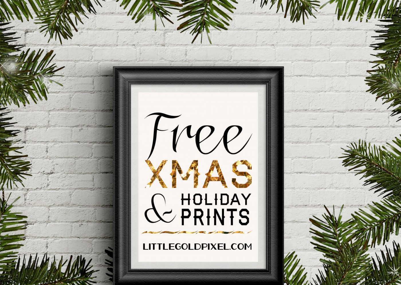 35 Free Christmas Printables To Frame Little Gold Pixel