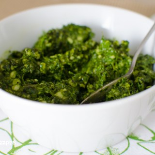 Arugula, Basil and Spinach Pesto