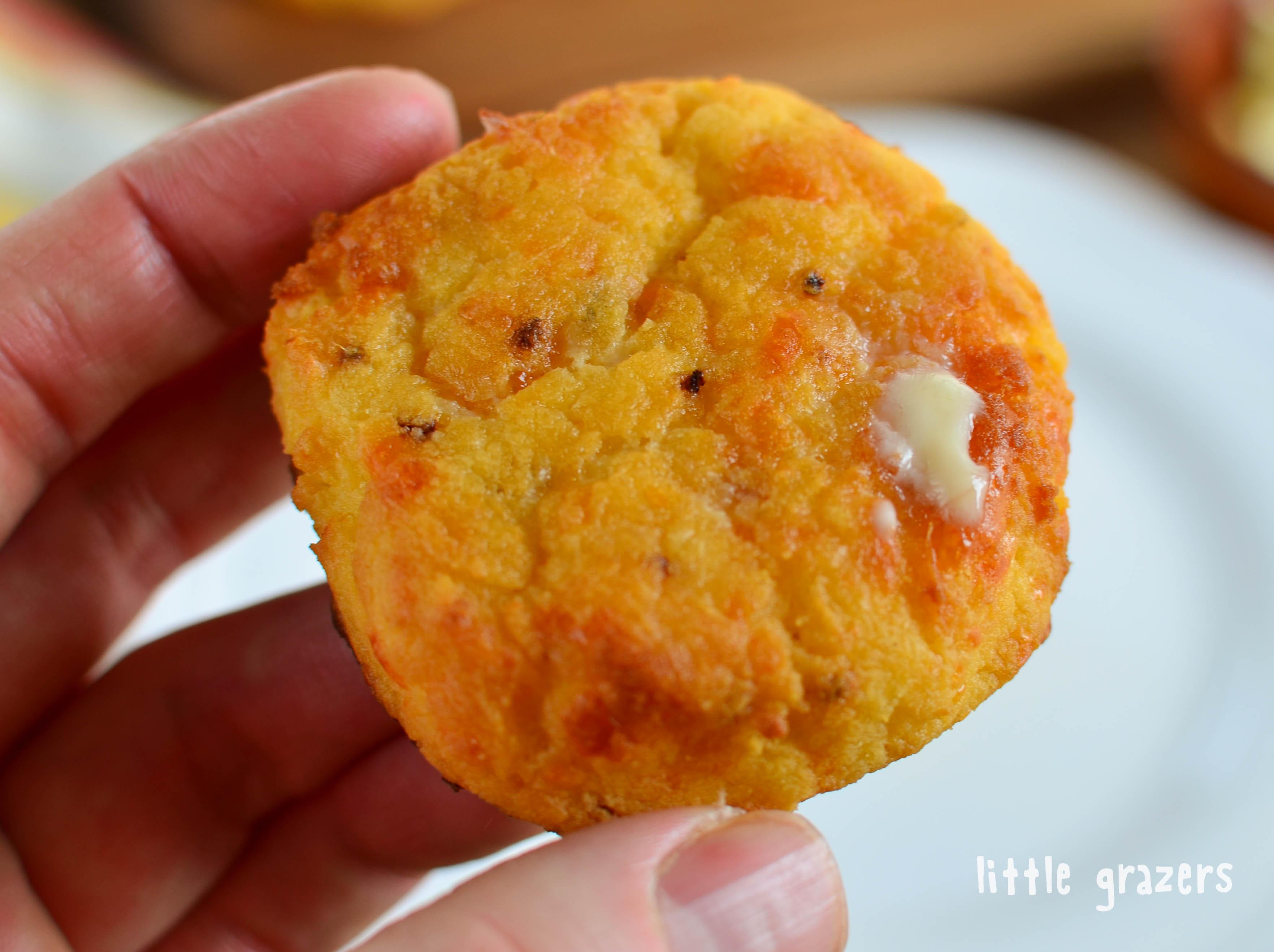 Little Grazers Cheddar Sweet Potato Scones - Gluten Free, Baby Led Weaning, Finger Foods