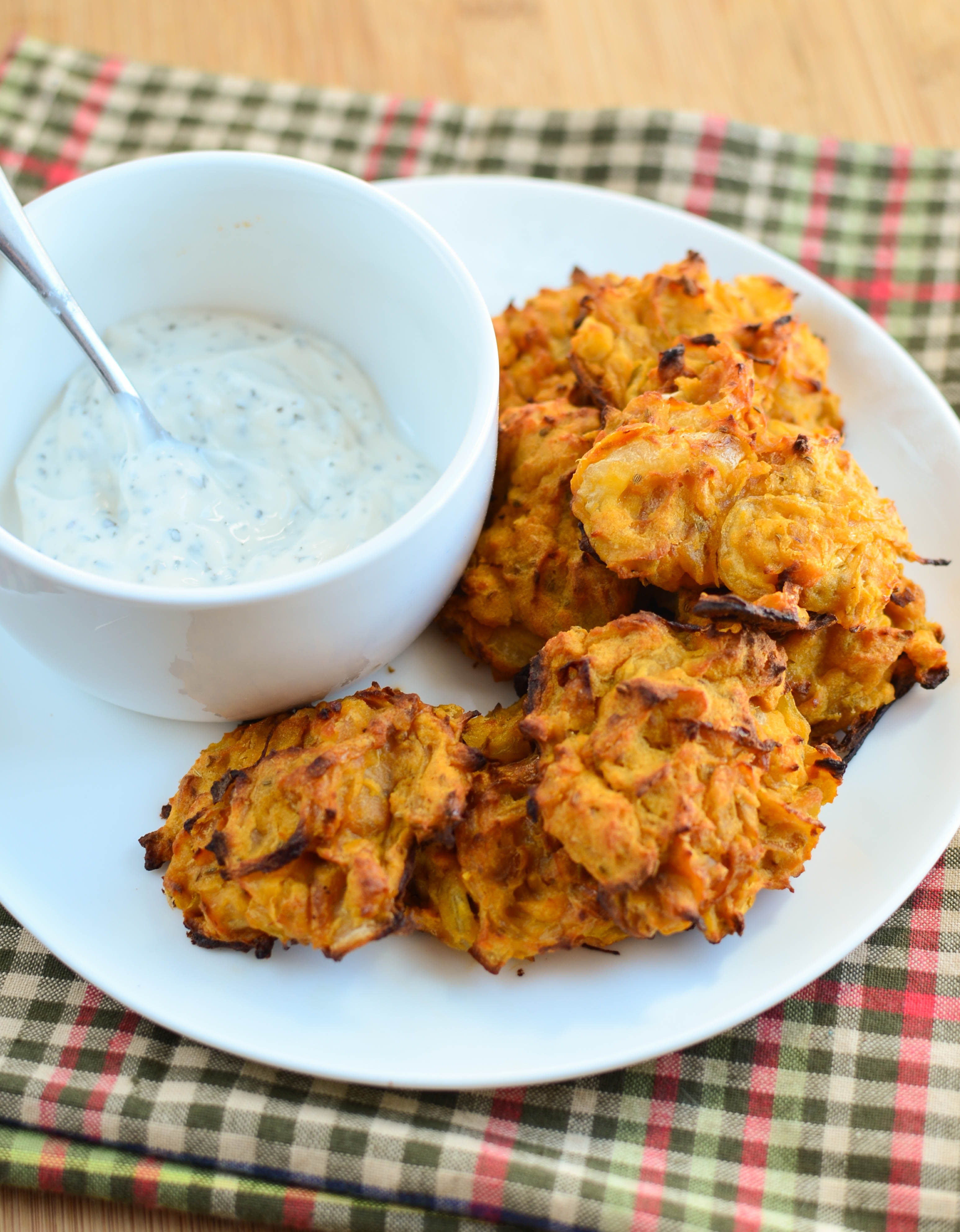 Little Grazers Oven Baked Onion Bhaji - gluten free, dairy free, finger foods, blw, baby led weaning, family meals, kids meals, lunch boxes, fussy eaters