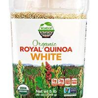 Wunder Basket Organic White Quinoa, 5 LB Jar, Raw, Non-GMO, Vegan (White)