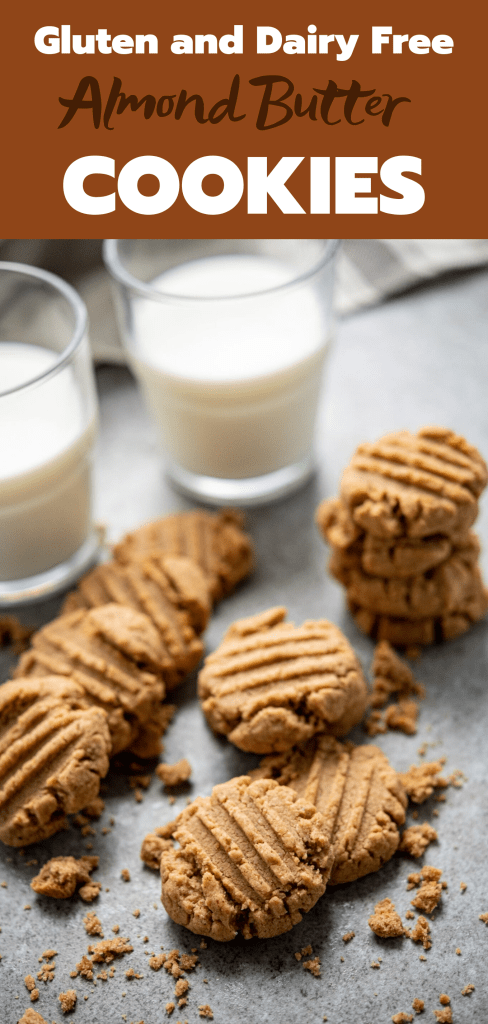 almond butter cookies feature image