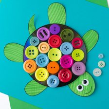 Button-and-CD-Turtle-Craft-for-Kids-10