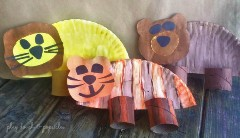 paper plate lion tiger and bear