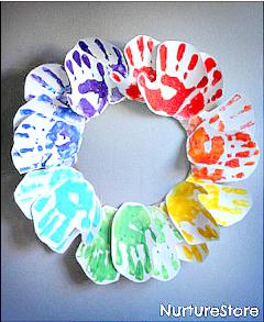 rainbow-handprint-wreath-craft