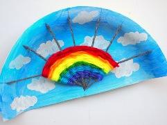 rainbow yarn weaving