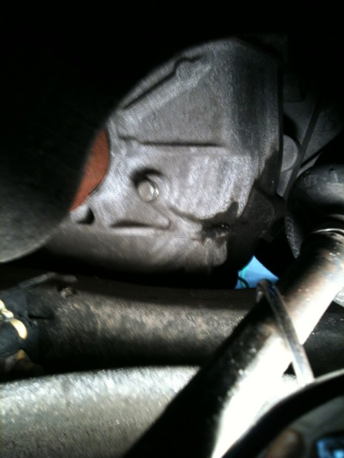 small resolution of as reported elsewhere in this forum the transmission oil level is above this plug when the engine is not running the level check must be performed with
