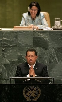 Hugo Chavez at UN Today