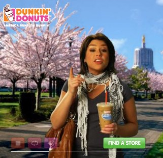 Rachael Ray advertises for Dunkin' Donuts