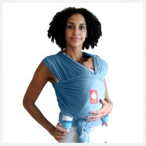 Hana Baby Wrap Carrier in Sky Blue Organic Bamboo & cotton