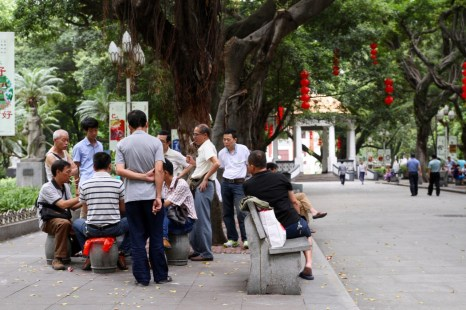 Locals at the park in Guangzhou