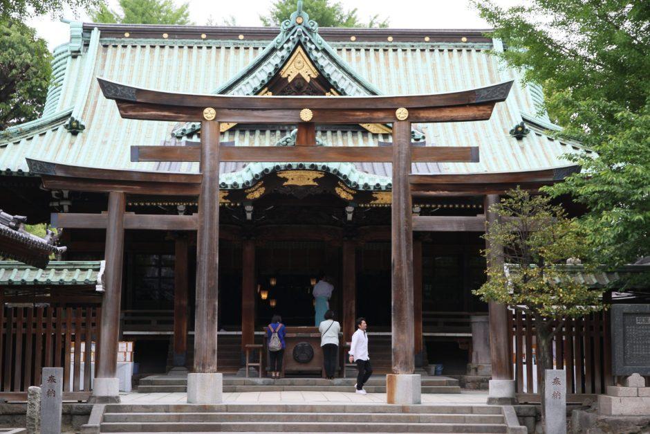 Shrine at a garden near the Tokyo Sky Tree